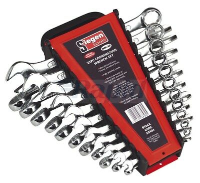 Sealey Siegen 22 Piece Combination Spanner Set Metric & Imperial S0404