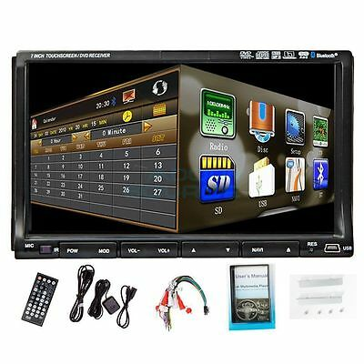 "NEW Double 2 Din HD 7""Touch Screen Car DVD Player GPS Navigation Stereo Radio FM"