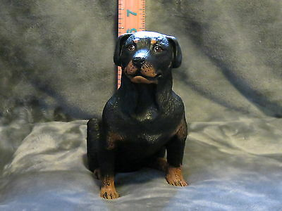 Rottweiler Plaster Dog Statue Hand Cast And Painted By T.c. Schoch