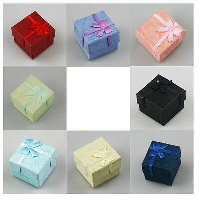 Wholesale 24pcs Jewelry Ring Earring Pendant Paper Gift Color Box Lots 4*4*3cm