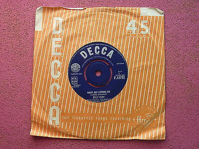 "*(XT9) Billy Fury What Am I Gonna Do Decca UK 7"" 45 Excellent!"