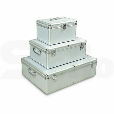 Aluminium CD DVD Bluray Storage Box Case - Holds 80, 120, 200, 600, 1000 Discs