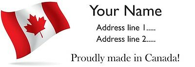 30 Personalized Custom Return Address Labels made in Canada Printed Stickers