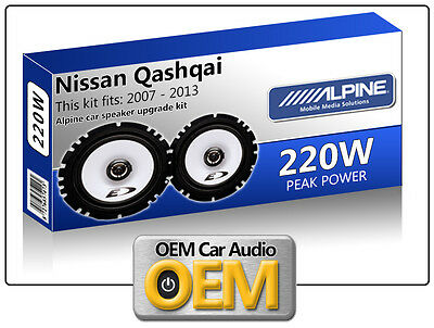 "Nissan Qashqai Front Door speakers Alpine 17cm 6.5"" car speaker kit 220W Max"