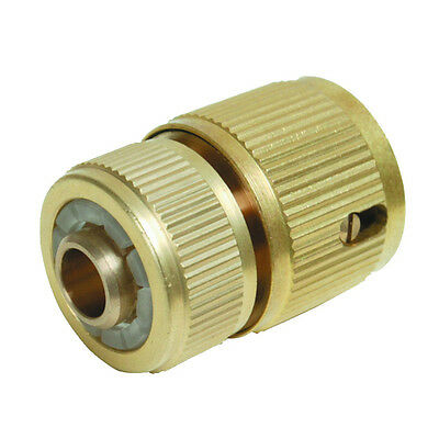 196506 Silverline Brass Auto Stop Quick Connector for Garden Water Hose Pipe DIY