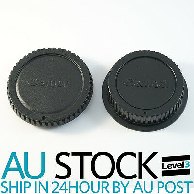 Rear Lens And Body Cap Cover For Canon Eos EOS EFS EF EF-S EF DSLR SLR Au Seller