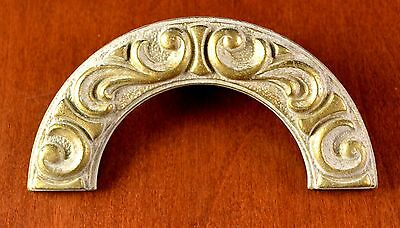 """Vintage KEELER BRASS #N-6776 Arched Cream & Gold FRENCH Drawer Pull Holes 1 1/4"""" • CAD $11.97"""