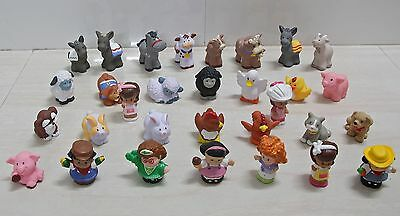 Fisher-Price Little People Farm lot Animal Sheep donkey Bunny Cow Horse pig Dog