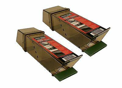 2 x PROCTER PEST STOP EASY TO USE HYGIENIC HUMANE MICE MOUSE TRIP TRAP