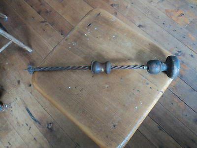 Antique Twisting Wooden Handle Brad Awl