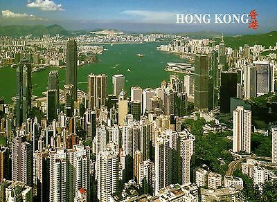 Hong Kong & Kowloon from The Peak HK China, Center, Business District - Postcard