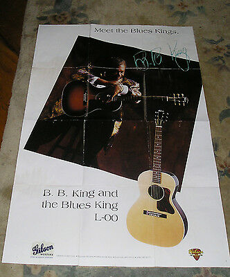 B. B. King Gibson Acoustic Collection Poster