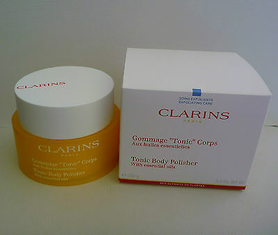 CLARINS Tonic Body Polisher Tone with Essential Oils, 250g, Brand New in Box!