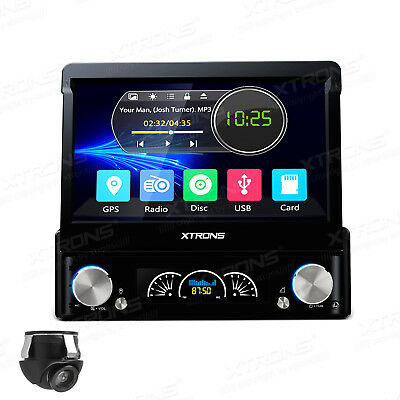 "7"" Car GPS Touch Screen Single DIN DVD Player Radio 360° Reverse Parking Camera"