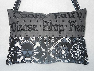 Personalized Gothic or Skulls Tooth Fairy Pillow