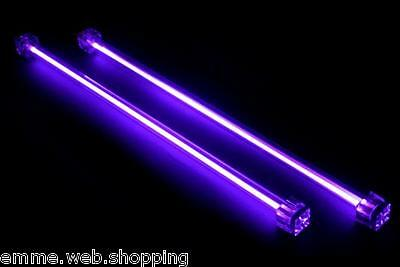 Kit coppia Neon CCFL 30 cm luce colore ultravioletto PC modding tuning auto