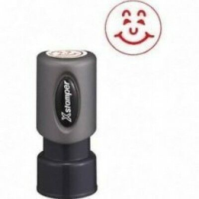 "Xstamper 11303 - Specialty Stamp, Happy Face, Red, 5/8"" diameter pre-inked"