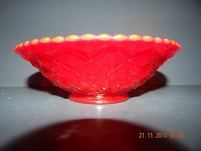 Ruby Red Glass Dish