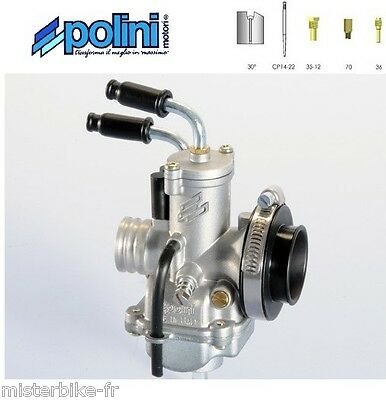 Carburateur 15 carbu POLINI type CP Ø15  Starter à câble Moto Ref 201.1502