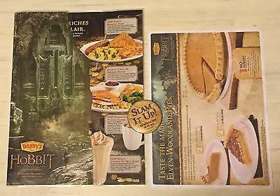 The Hobbit - Dennys Resturant - Promo - Menu - Placemat - Badge - Denny's USA