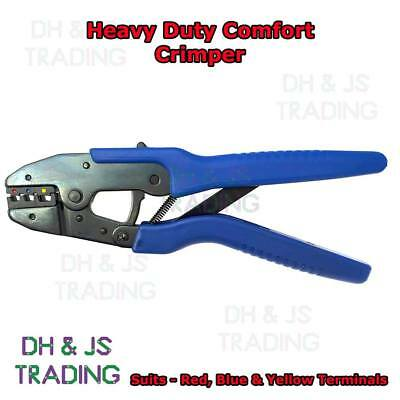 Wiring Terminal Crimpers - Heavy Duty Ratchet Comfort Handles Electrical Pliers