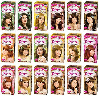 [LIESE] Prettia Kao Japan Foamy Bubble Hair Dye Color Dying Kit (CHOOSE) NEW