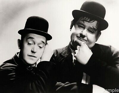 Laurel and Hardy 2 Comedy Actors Glossy Black & White Photo Picture Print A4