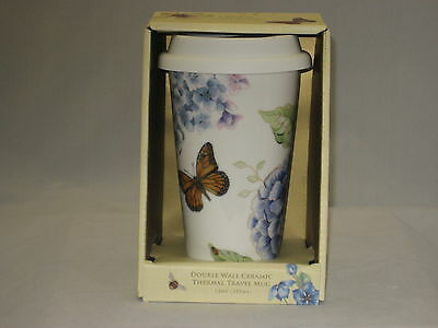 Lenox  Butterfly Meadow Blue Thermal Travel Mug  (NEW)