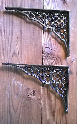 Victorian Cast Iron Shelf Brackets