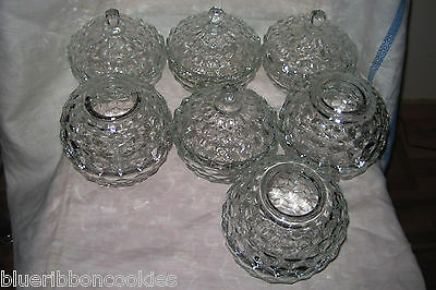 14 pieces Indiana Glass Whitehall crystal covered bowl fairy light rose