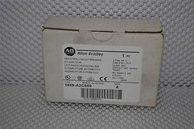 ONE NEW Allen-Bradley 1489-A2C050 Miniature Circuit Breaker, 2 Pole