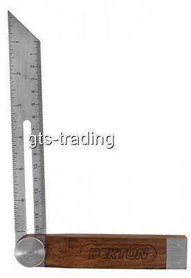 "Professional Heavy Duty Graduated  8"" Sliding Bevel Square Carpentry Angles Eb48"