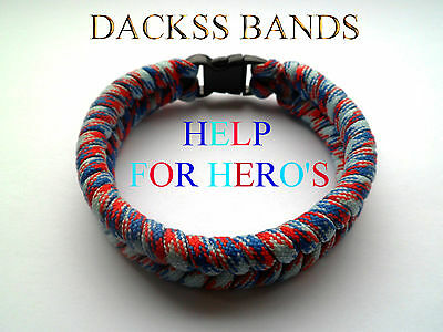 British Army Navy RAF Paracord Un-Official Help For Hero's Wristband Bracelet