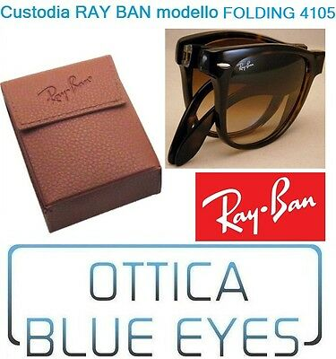 CUSTODIA CASE RayBan 4105 Folding 3479 Ray Ban 2176 OCCHIALI Sunglasses BOX