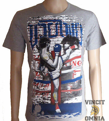 Tee Shirt T-shirt Muay Thai boxing Boxe Thai Ring fighter gris