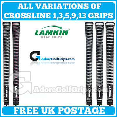 Lamkin Crossline Golf Grips - Free Post - All Sizes - All Colours - Any Quantity