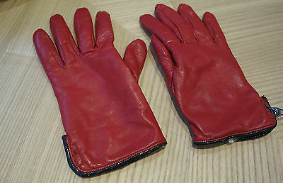 Vivian Westwood red leather gloves