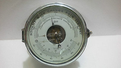 "VINTAGE MARINE SHIP BRASS  BAROMETER  "" Pchatr "" MADE IN WEST GERMANY"
