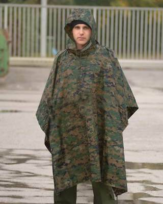 Poncho impermeable camuflaje Ripstop marpat o Woodland Digital lluvia airsoft