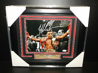 Iron Mike Tyson Authentic Autographed Signed 8X10 Photo Framed Jsa Coa