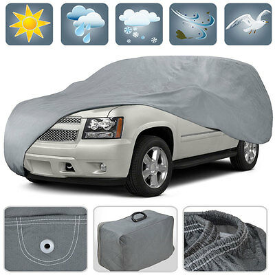 Motor Trend Waterproof Cover Durable UV Protection - SUV Van Fits up to 225 inch