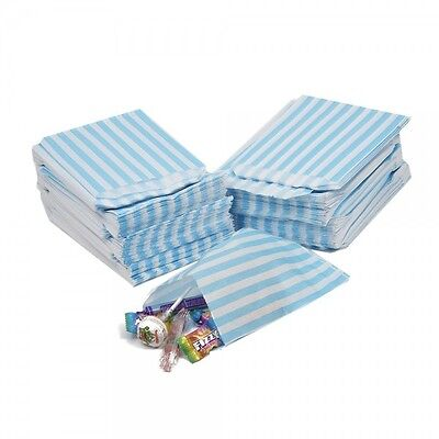 AQUA Candy Stripe 0R Polka Dot  Sweet Party Paper Bags Weddings  Loot 5'' x 7''