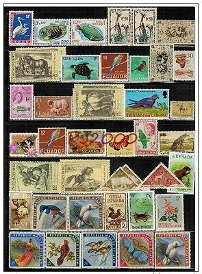 WORLDWIDE ISSUE ANIMAL(MNH/MH), TRANSPORTATION(USED) OLD STAMPS COLLECTION