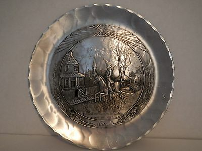 WENDELL AUGUST ART IRON FORGE - HAND MADE - PAUL REVERE PLATE
