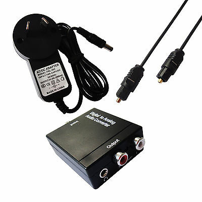 3.5mm Digital Optical Coaxial Toslink Signal to Analog Audio Adapter Converter