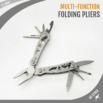 NEW 9 In 1 Multi Tool Folding Knife Pocket Pliers Knife Saw Screwdriver Camping