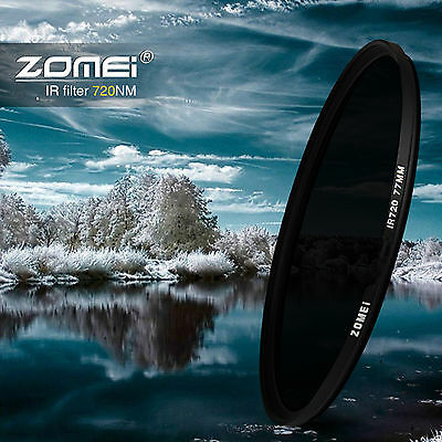 ZOMEI 25/30/30.5/37/43/49/52/58mm/67/72/77MM/82MM 720NM Infrared X-RAY IR Filter