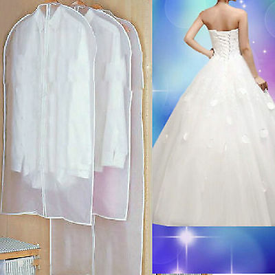 High 1x Bridal Wedding Dress Gown Garment Storage Bag Cover Hanging Protector