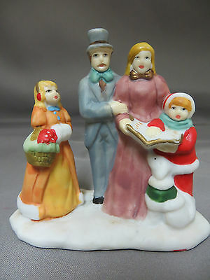 Dickens Collectables Christmas Village Carollers Caroling Family Town Accessory