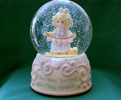 PRECIOUS MOMENTS MUSICAL WATERBALL Enesco YOU HAVE TOUCHED SO MANY HEARTS NOS
